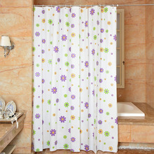 купить New Products Sell Like Hot Cakes Shower Curtain Fresh  Flower Design Bathroom Toilet Partition Curtain Waterproof Mouldproof по цене 1310.06 рублей