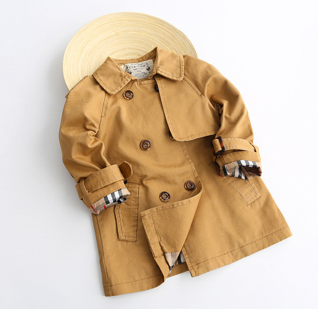 Boy Trench Coat Boy Coat  Export Euro Quality Very Quality for 2-8 years old Brand Kids Girls Trench