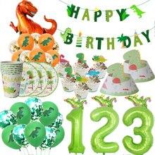 WEIGAO Dinosaurier Geburtstag Party Einweg Geschirr Sets Kinder Tier Geburtstag Party Dekoration Papier Banner/Tasse/Platte Liefert