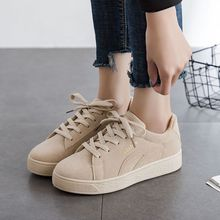2020 Solid Beige Black Canvas Shoes Women Spring Summer Lace