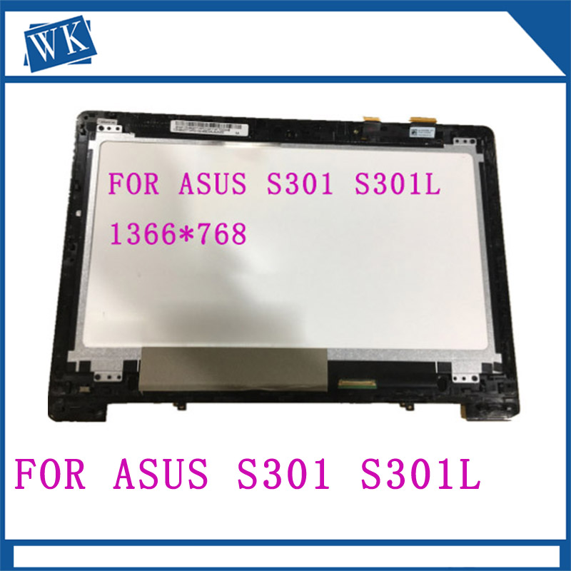 Free Shipping 13.3 FOR ASUS S301 LCD screen+ touch screen digitizer assembly 1366*768 with frameFree Shipping 13.3 FOR ASUS S301 LCD screen+ touch screen digitizer assembly 1366*768 with frame