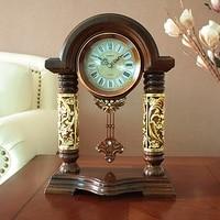 European retro clock mute pendulum clock living room large creative new home decor clock quartz WL5281622