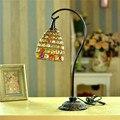 New! европейский Стиль Ручной бисером настольные лампы Спальни Лампа Luminaria-де-меса Hotel настольная лампа Дома Ремесел Творческой Стол Свет