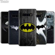 Cool marvel Batman logo Black Silicone Case for Samsung Galaxy S10e S10 S8 S9 Plus S7 A40 A50 A70 Note 8 9 Soft Cover