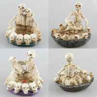 Free Shipping Cool Skeleton Lover Figure Toy Animal Cake Modern Punk Home Office Car Decoration Ash