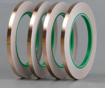 20M  DIY Double sided conductive pure copper foil tape adhesive shielding tape antenna signal enhancement 25mm 20m single side adhesive silver conductive fabric cloth tape for pc phone lcd cable emi shielding keyboard repair