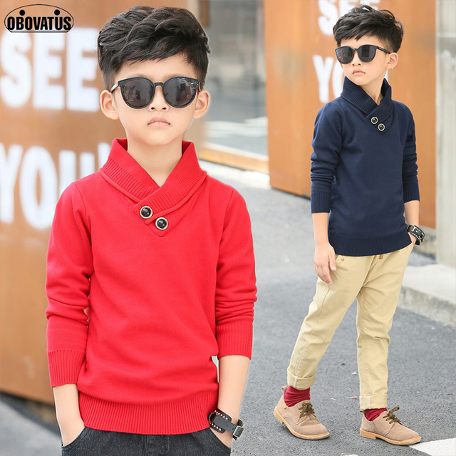 2018 new design school kids sweaters for boys children clothing