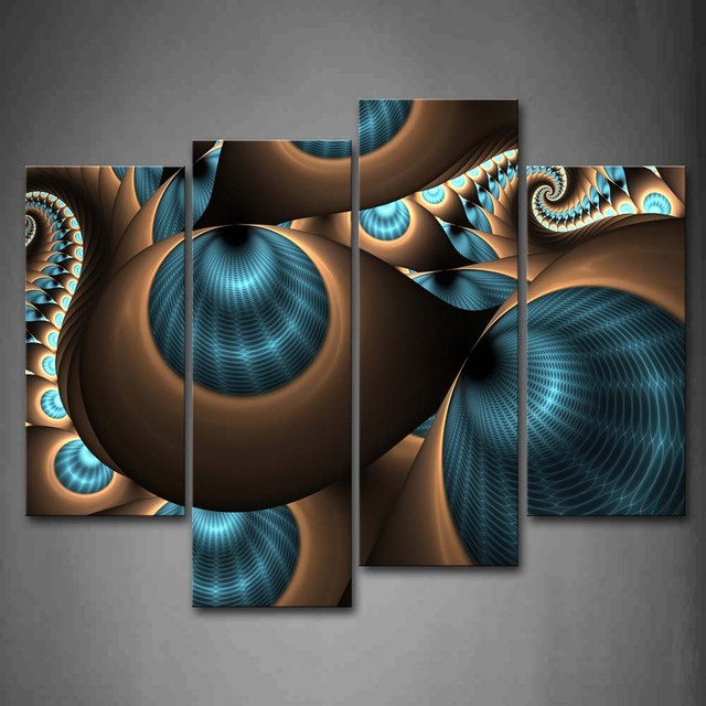 Abstract Tunnels Patterned Framed Wall Canvas Print