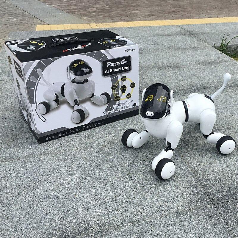 HeLICMax intelligent Robot Chien AI Électronique Pet Mobile APP manipulation Bluetooth Connecter Haut-Parleur Multi-fonction D'anniversaire Cadeau