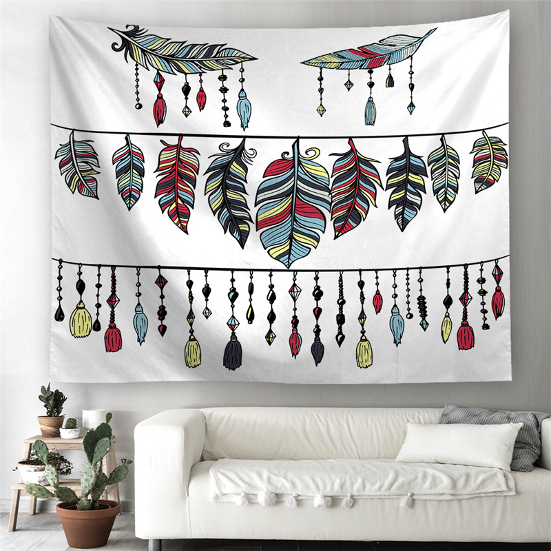 Tarot Mandala Tapestry Wall Hanging Bohemian Hippie Multi Dreamcatcher Black Witchcraft Macrame Wall Tapestry Carpet Throw Rugs in Tapestry from Home Garden