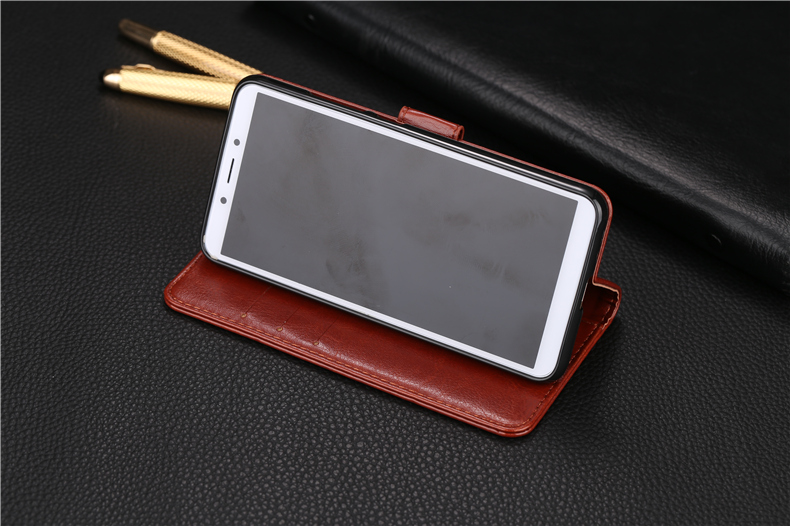 For Xiaomi Redmi 6A 5 45 inch Case Wallet Flip PU Leather Phone Cases For Xiaomi Redmi 6A Stand Cover in Flip Cases from Cellphones Telecommunications