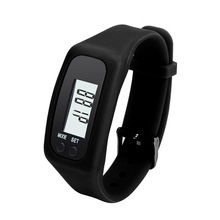 Display Sports Gauge Step Tracker Digital LCD Pedometer Run Walking Calorie Counter Wrist Sport Fitness Watch Bracelet