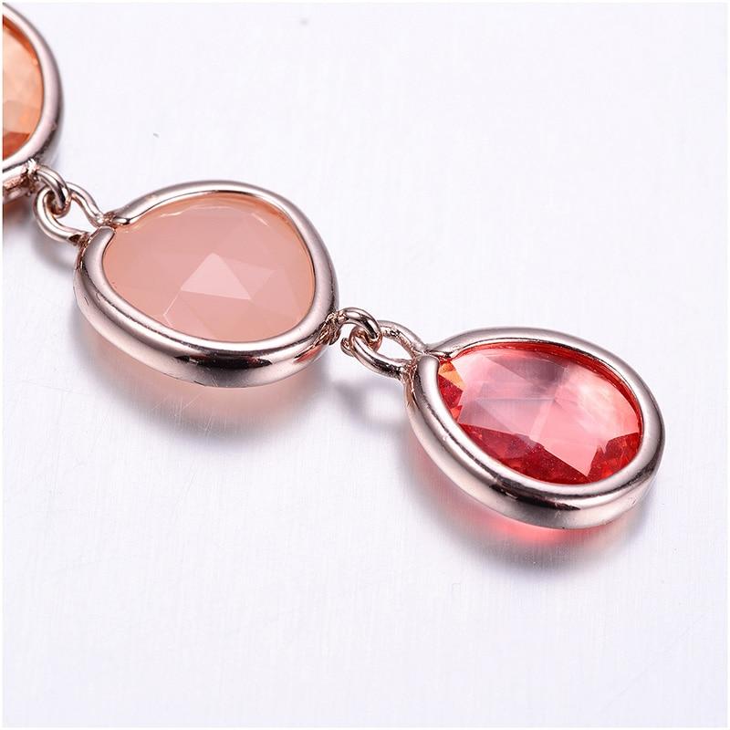 Resin Water Drop Long Earrings For Women Girls Gold Color Alloy Female Dangle Hanging Earring Fashion Ear Jewelry Brincos 2020 4