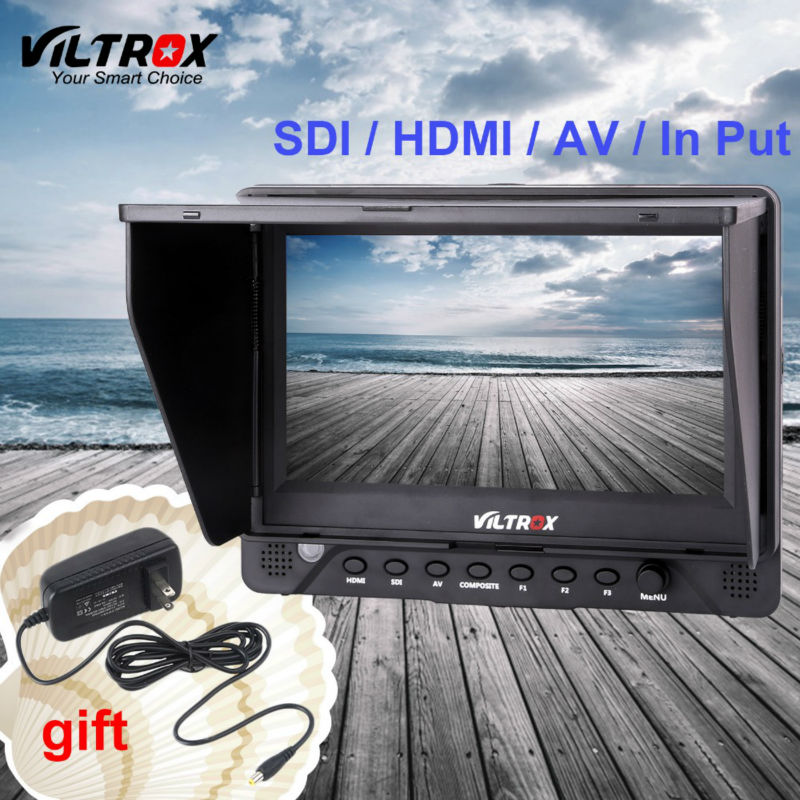 7''Viltrox DC-70EX HD LCD Monitor HDMI/SDI/AV Input Output 1024*600 IPS Screen Clip-on Video Display for camcorder DSLR camera
