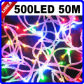 50M 500 LED 9 Colors Holiday New Year Xmas Navidad Fairy String Decoration Outdoor Garland LED Christmas Wedding Light CN C-35