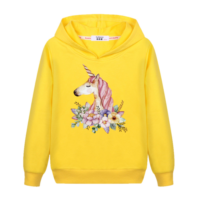 Baby Girls Sweatshirts Unicorn Long Sleeve T shirts Children Outerwear Coat Kids Pullover Tops Boys Clothes 2017 Brand New