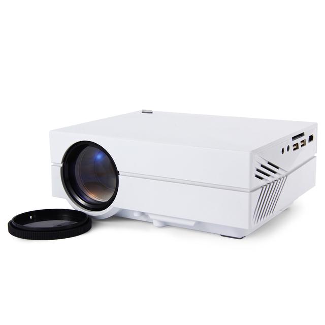 GM60 caliente MINI Proyector LLEVADO Portable 1000 Lúmenes de Entrada para Los Juegos de Video/TV/LCD Para El Hogar Teatro de Moda Diseñado Beamer/proyector