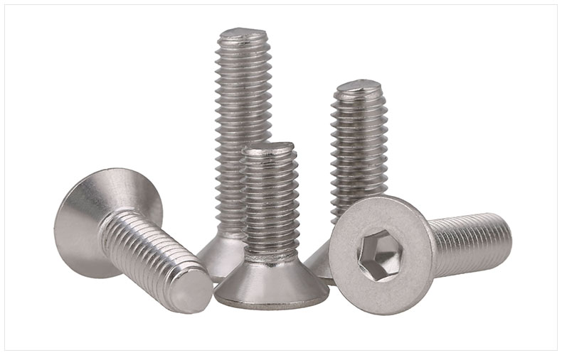 DIN7991 304 stainless steel countersunk head flat head screws Hex socket screws M4 M5 screws bolts m4 din7991 hexagon hex socket countersunk flat head cap screws 304 stainless steel diy home maintain matel working