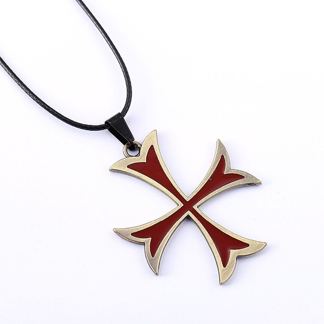10pcs assassins creed necklace templar cross pendant necklace 10pcs assassins creed necklace templar cross pendant necklace friendship men women game jewelry choker aloadofball Image collections