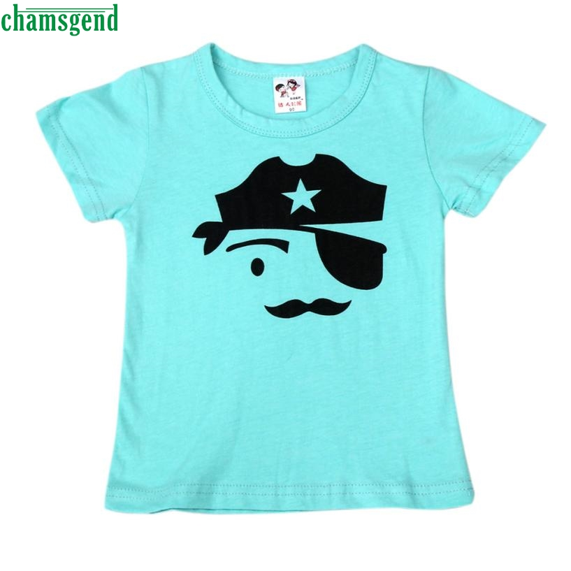 CHAMSGEND New dropship cute fashion Summer Children Boy Kid Lovely Face Short Sleeve Tops O Neck T-Shirt Tees MAR29 P30