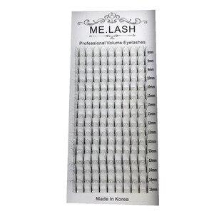 Image 3 - Extensiones de pestañas de visón, 10 bandejas, 16 filas mezcladas de 8 a 15mm, voluminosas prefabricadas, 3D 4D 5D, Tallo largo