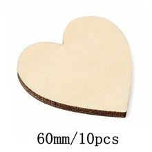 100pcs/lot Blank unfinished wooden heart crafts supplies laser cut rustic wood wedding rings ornaments 80mm 171130