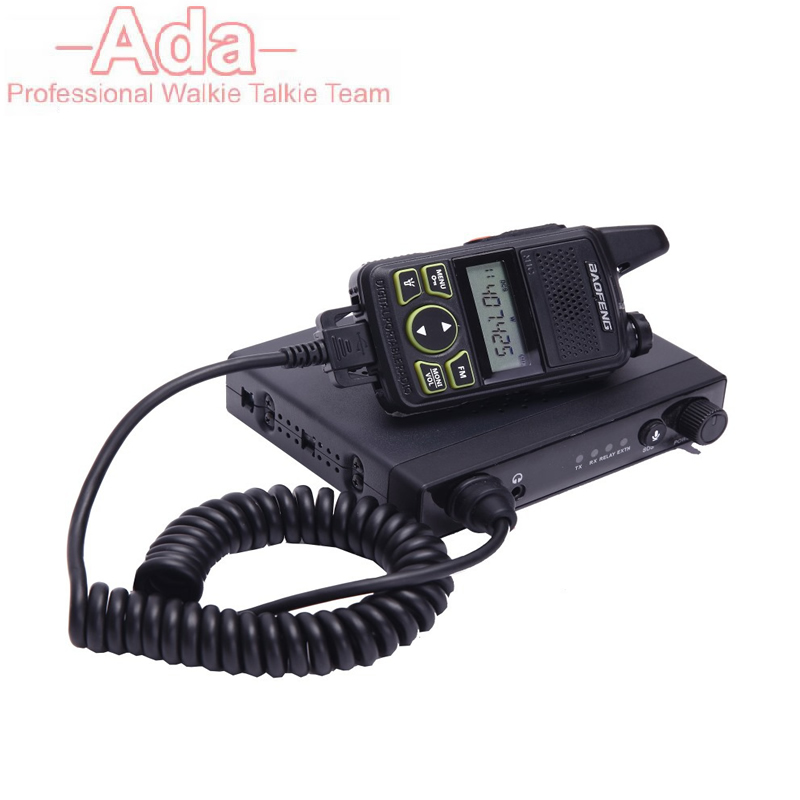 DHL Free MINI Baofeng BF T1 Mobile Car Radio 15W Power Output and UHF 400 420MHz Max 20 Saving Channels Two Way Radio A7215A