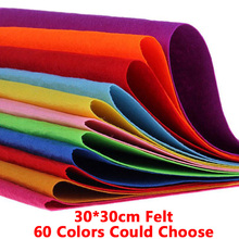 1pc 30cm 60 Color Felt Polyester Nonwoven Fabric Diy Sewing Decor Cloth Craft Handmade Arts Home Making Needlework New