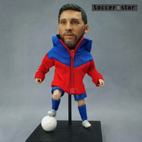 Soccerxstar Figurine Football Player Movable Dolls 10# MESSI (BAR 2017/18) 12CM/5in Figure BOX include Accessories
