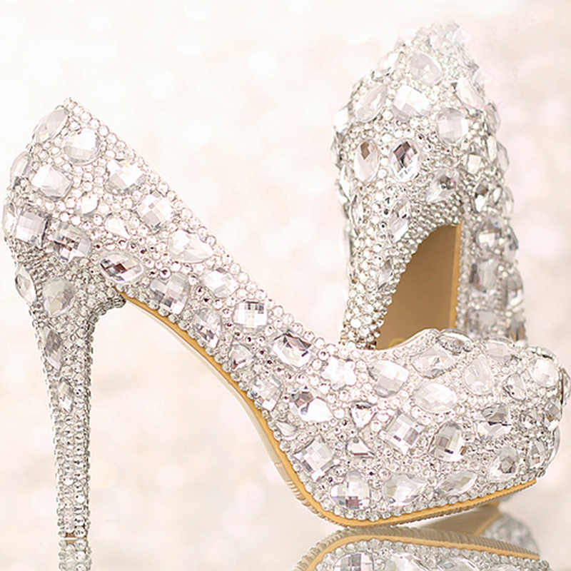 Wedding Shoes Silver Heels