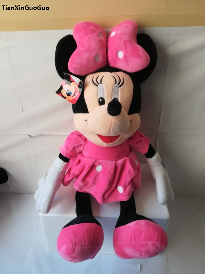 Movie Tv Character Pink Skirt Minnie Mouse Plush Toy Large 60cm Soft
