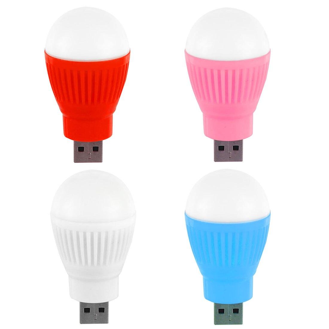 Energy Saving Reading Light 1pc Mini USB LED Bulb Round Outdoor Flashlight Emergency Lamp Laptop Computer Camping Lamp