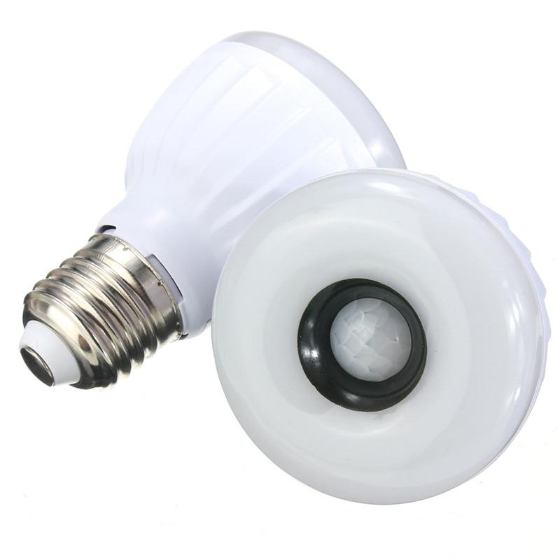 Sensor Light E27 LED Bulb 5W 25pcs 3528SMD Infrared PIR Motion Sensor Detector LED Lamp White Warm White Lighting AC220-240V pet heating light bulb e27 infrared ceramic emitter heating lamp bulb 25 150w 80mm for reptile pet brooder white black 110 220v