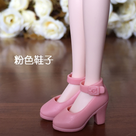 New 4Pairs High Heel Shoes For Blythe Dolls 1/6 BJD Doll Accessories 1/6 Fashion Doll Shoes For Licca Mini Shoes For Momoko Multan