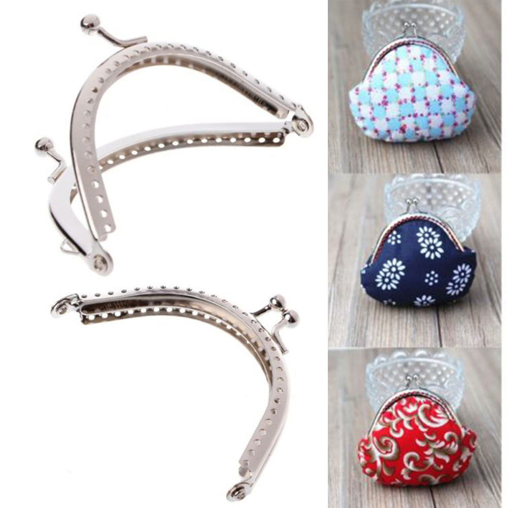 Novelty Novelty 8.5cm / 3.34ich 1PC Vintage Metal Purse Bag Frame DIY Craft Frame Kiss Closure Lock Accessories Bag