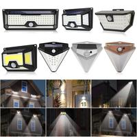 118/136LED солнечный светильник Солнечный движения PIR Сенсор лампа IP65 Водонепроницаемый уличный садовый фонарь аварийной безопасности свет лам...