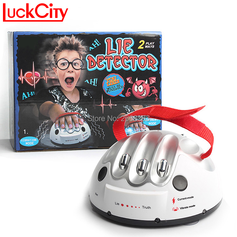 Polygraph Test Tricky Funny Adjustable Adult Micro Electric Shock Lie Detector Shocking Liar Truth Party Game Consoles Gifts Toy(China)