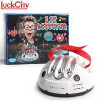Prueba de polígrafo delicado divertido ajustable adulto Micro electrico Detector de golpes mentirosos verdad partido consolas regalos de juguete