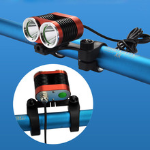 1PC Cycling Bike Head Front Light Bicycle Light True 1500LM 2 X XM-L LED USB Waterproof Lamp Bike Bicycle Headlight M15