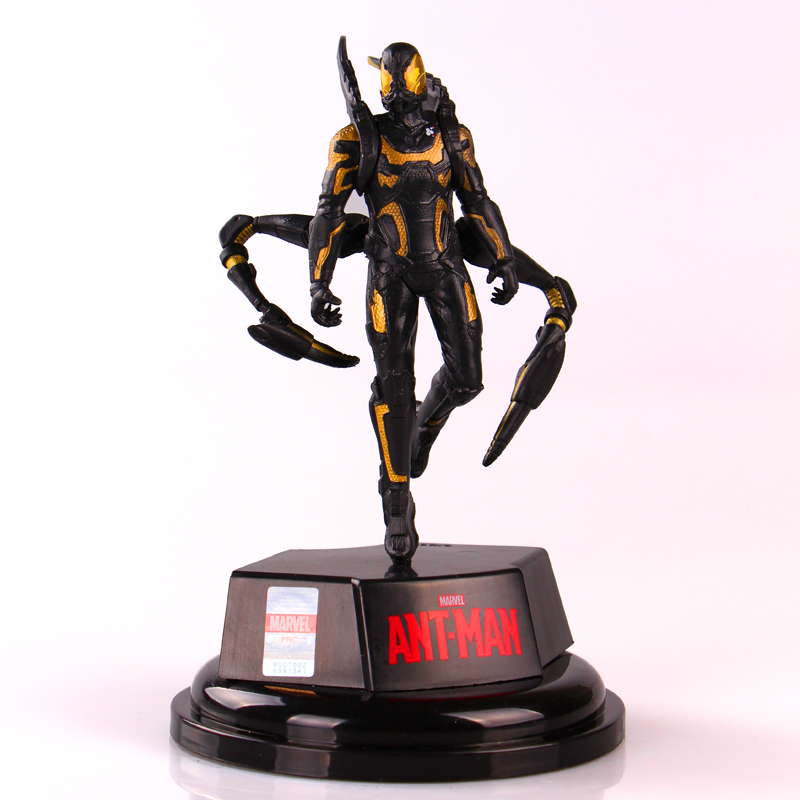 7 inches 16cm Marvel Superhero Movie Ant-Man Yellow jacket Doll collection model new 5pcs marvel superhero ant man wasp yellow jacket action figure toys doll