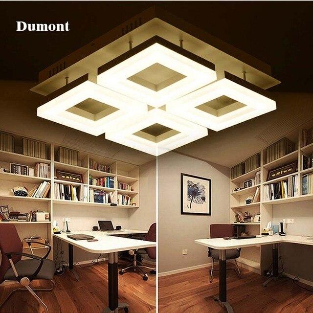 Moderne led woonkamer lamp rechthoekige sfeer romantische warm ...