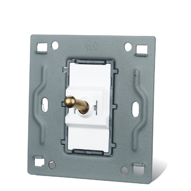 Home Installed Wall Switch Socket 86 Type Concealed Black Steel Frame To Open A Double Control Switch PC 220V 10A in Switches from Lights Lighting