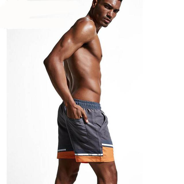 KWAN.Z men's board shorts summer bathing beach shorts smooth male swimwear hombre shorts for men maillot de bain homme short