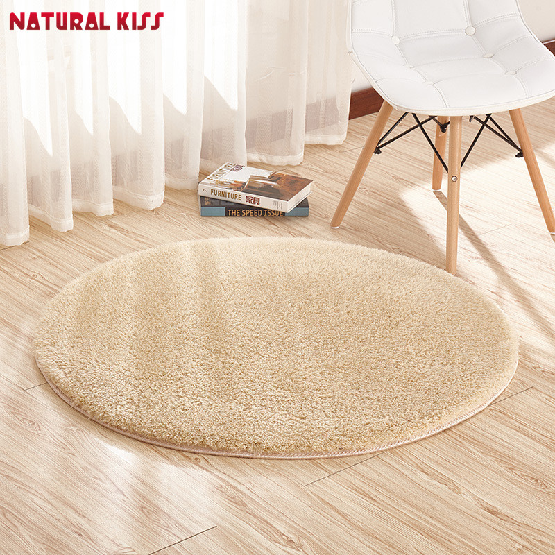 Natural Kiss Soft Cashmere Round Carpet Non-Slip Water Absorption Floor Rug Yoga Mat For Bedroom Parlor Living Room Home Supplie