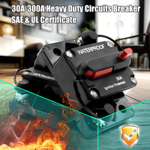 Heavy Duty Circuit Breaker Manual Reset Switch Waterproof SAE UL Cetificated DC12-48V 30/40/50/60/70/80/90/100/120/140/150/200A(China)