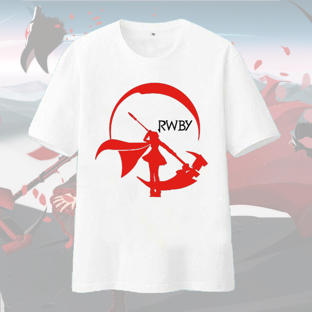 [RTXBQU]Anime RWBY T Shirt Ruby Rose Weiss Schnee T-shirt RWBY Red