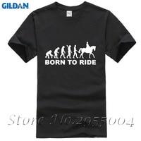 2017 New Human Horse Riding Eevolution Born To Ride Printed Men S T Shirt Short Sleeve