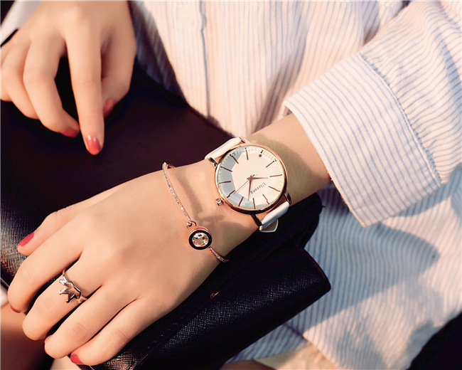 Polygonal dial design women watches luxury fashion dress quartz watch ulzzang popular brand white ladies leather wristwatch 16