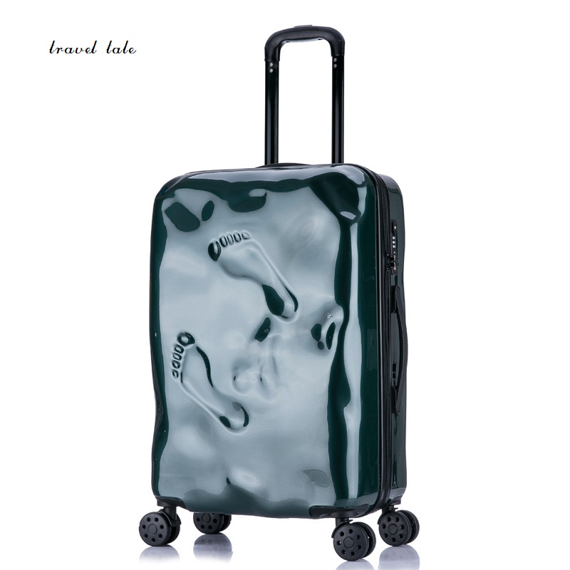 Travel tale personality Damaged footprints restoring ancient ways 100% PC Suitcase Carry on Spinner Wheel Travel Luggage 20/24