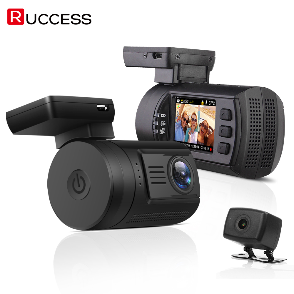 Ruccess Mini 0906 Dash Caméra De Voiture DVR Avec Double Lentille FULL HD 1080 P Novatek 96663 GPS Tracker Bluetooth Nuit Vision Dashcam